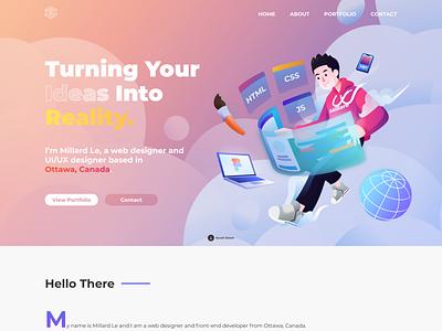 Personal Portfolio Design ux portfolio desktop web ui design