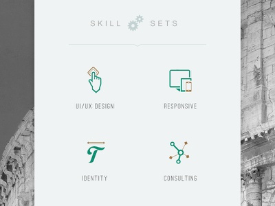 Skill Set Icons skill sets skills ui ux responsive identity consulting icons