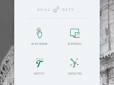 Skill Set Icons skill sets skills ui ux responsive identity consulting icons
