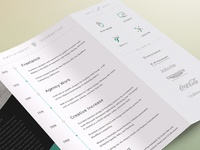 2014 CV Resume TriFold