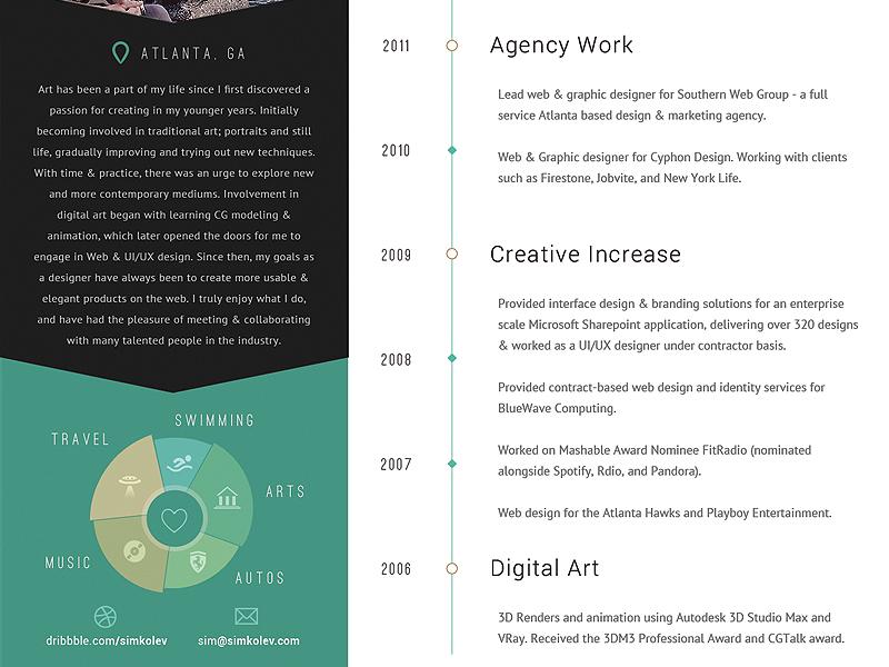 Trifold Resume + PDF pdf trifold brochure resume cv personal work history print