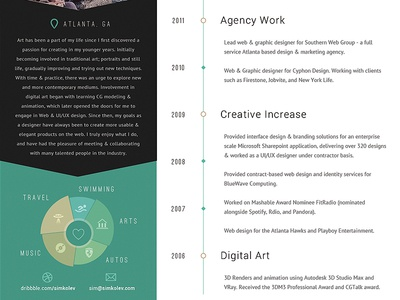 trifold resume