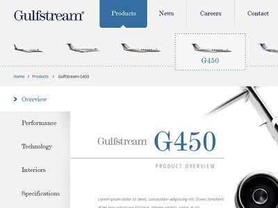 Gulfstream Reinvented gulfstream redesign ui ux concept aviation responsive pitch visualization branding