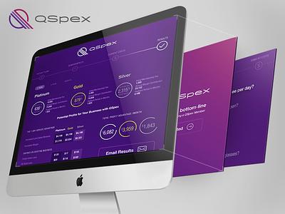 QSpex Responsive Calculator responsive web mobile tablet desktop calculator profit margins qspex morrison lens webapp