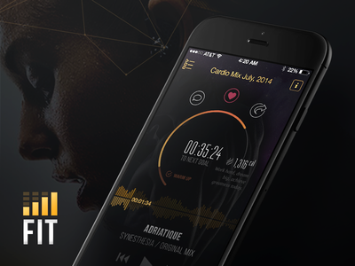 FITRadio Case Study ios8 ios mobile interaction design radio fitness app player music ui ux