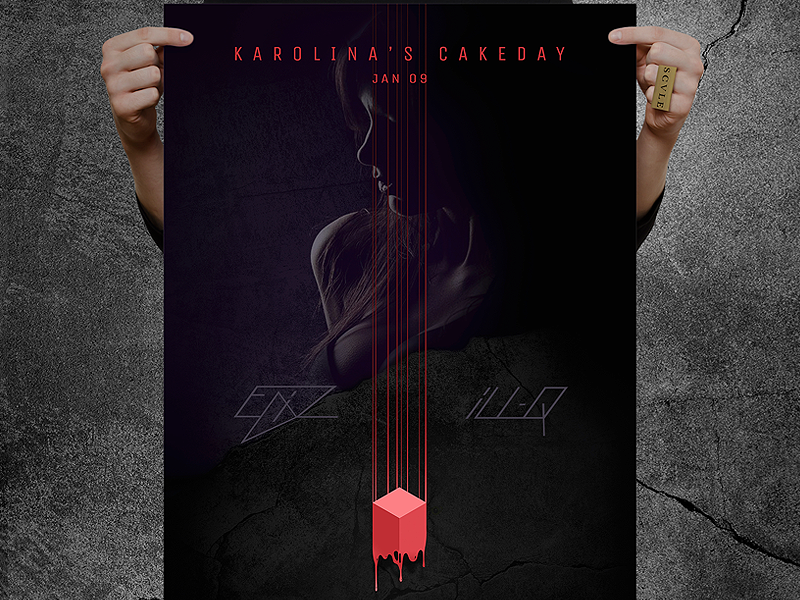 B Day Event Movie Poster By Sim Dribbble Dribbble