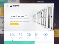 IT Comp Explorations visual design comp telecom responsive bluewave web page icons web design website layout design branding