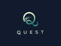 Q is for Quest concept road brand logo mark type logomark steve wolf q