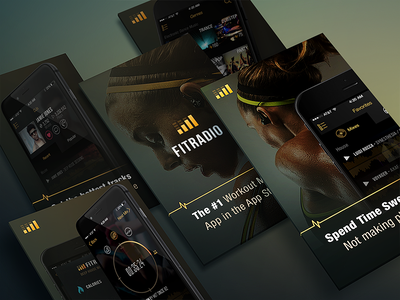 FIT App Store Screens mobile ios app store screens store app fitness fitradio