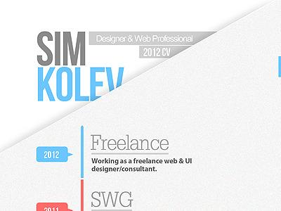 2012 CV/Resume Full Shot 2012 cv resume print