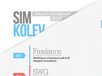 2012 CV/Resume Full Shot