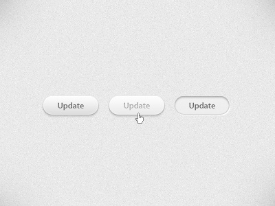 Update Button update button ui rounded grey light