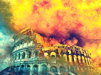 Collosseum digital illustration art adobe photoshop cc photoshop love design history colours manipulation artwork graphicdesign