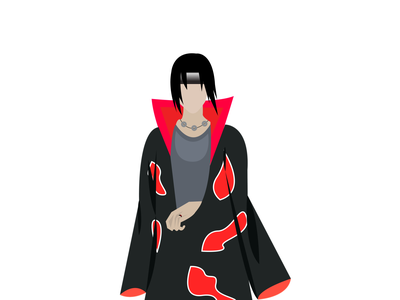 Itachi Uchiha art vector anime art naruto adobe illustrator artwork digital illustration design illustration graphicdesign