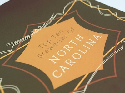 North Carolina Breweries print book design editorial beer breweries catalog