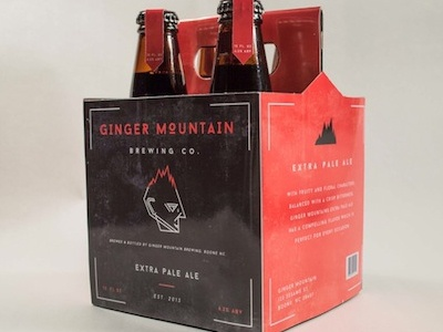 Ginger Mountain Brewing Company beer breweries package logo four pack