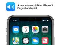Volume HUD - iPhone X