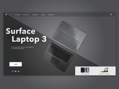 Surface Laptop 3 Landing Page