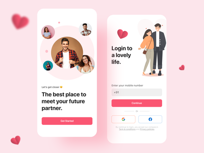 Dating App Sign up login signup trending minimalism trend ui design ui  ux couple dating app minimal mobile app design app design app mobileapp mobile ui datingapp dating uiux daily ui