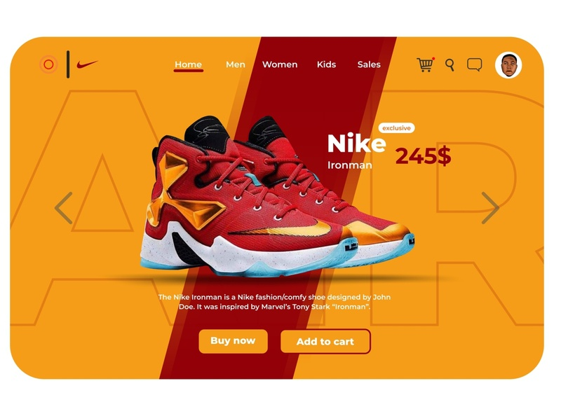 Nike Airmax Ironman animation flat web website design illustration ux app ui