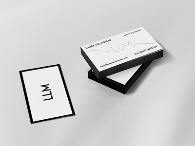 Black edges letterpress business card by laura lee moreau dribbble black edges letterpress business card reheart Gallery