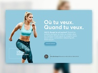 Online Fitness App Landing Page