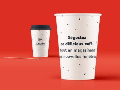 "Custom Coffee Cup ""Enjoy a coffee while shopping"""