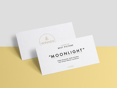 The Oscars Winners Card | Redesign Proposal gold fail graphic design 2017 futura typography redesign the oscars