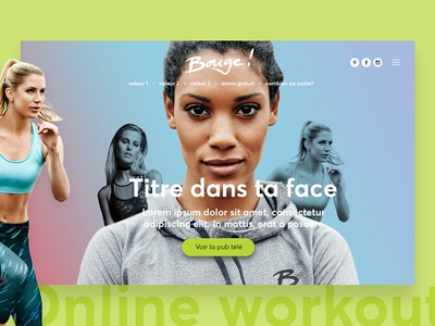 Landing page for a new Online Workout Program