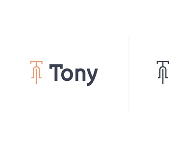 Logo + icon for Tony city bike vocal recognition app geolocation brand cold grey peach green apple bright bike rental bike share