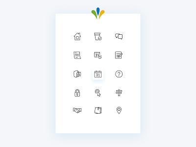 City of Granby - Icons & UI icons bright colors canada city portal city website responsive web design ui design