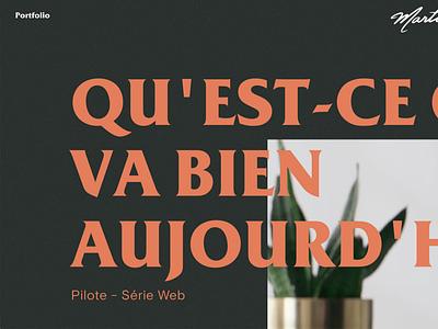 Sneak Peek! Portfolio website - Director & DOP red orange carrousel fullscreen serif gradient noise
