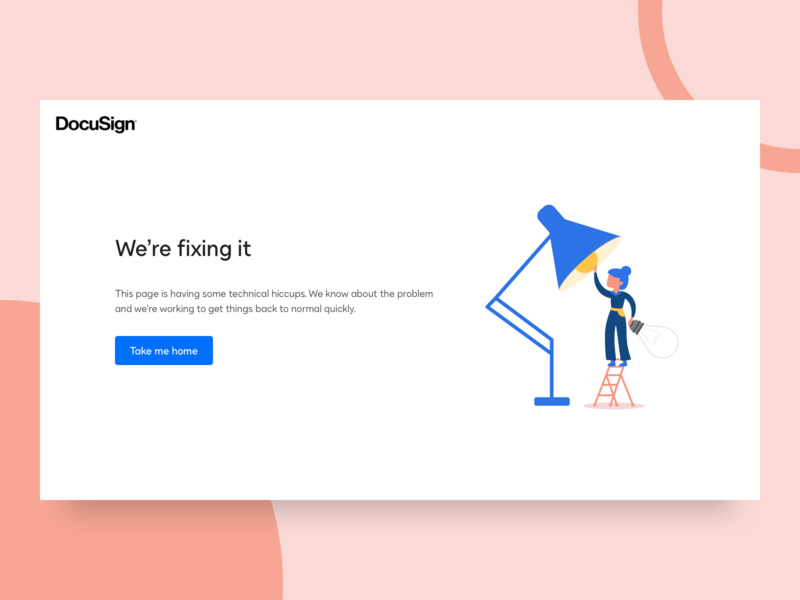 We're fixing it branding web error minimal flat vector ux ui design illustration error page
