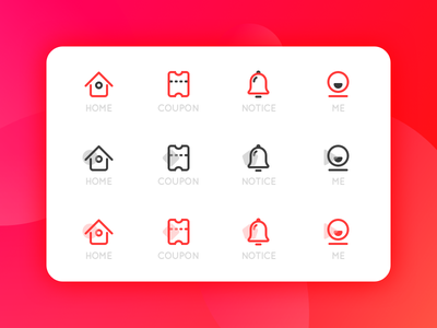 ICON PRACTICE color icon solid icon outline icon tab icon