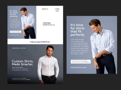 Proper Cloth - Mailer mailer design print design typography minimal design branding art direction