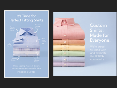 Proper Cloth - Custom Shirts, Made Smarter marketing marketing campaign advertisement advertising design branding art direction