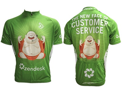 Zendesk Bicycle Jersey bicycle race zendesk sweaty buddha