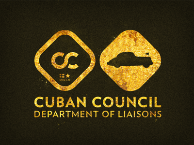 Cuban Council Liaisons Combo Logo cuban council logo gold leaf
