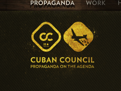Cuban Council Branding cuban council propaganda 1910 logo mark