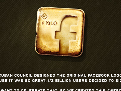 Facebook Gold Logo Download facebook gold logo free cuban council