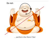 Do not perform the pencil test