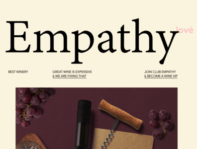 Empathy Wines winery elegant design minimal ui web ux design