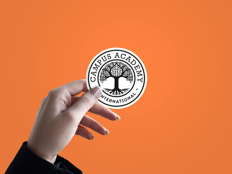 Sticker campus university brand designer logo design brand design logotype logos stikers sticker badge design badgedesign badge logo badges badge logodesign logo
