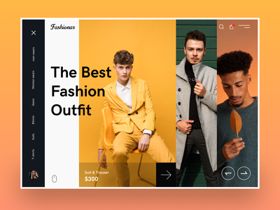Fashion Landing Page layout street wear clothing line online shop homepage mockup web design clothing photography uiux clean ui ecommerce landing page fashion