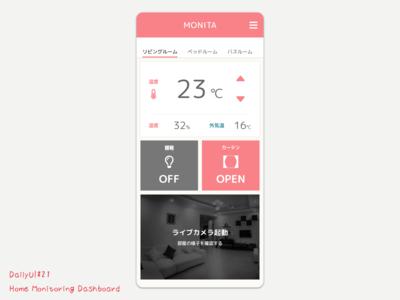 Home Monitoring Dashboard - DailyUI #21