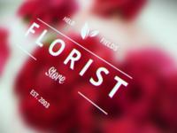 Florist logo badge