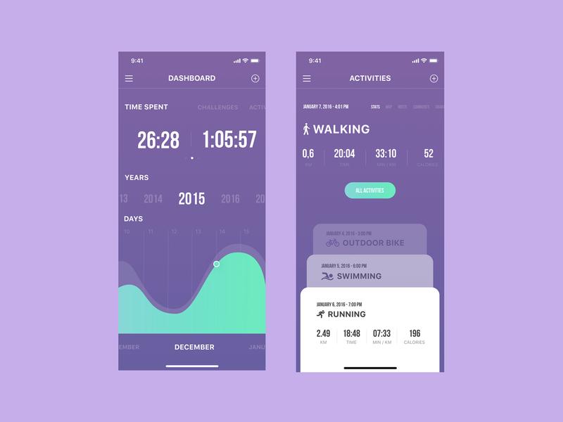 Sport Tracker App mobile app minimal ux ui design ios bike run walking tracker sports sport