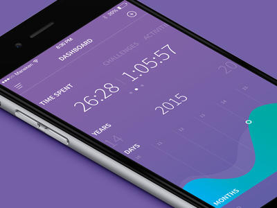 Sport Tracking App apps app dashboard activity mobile clean ios iphone design coloured tracking sport