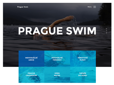 Header for Prague Swim prague swim title homepage webdesign website header