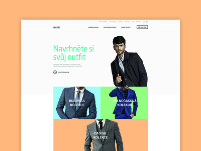Homepage minimal concept fashion outfit webdesign website design